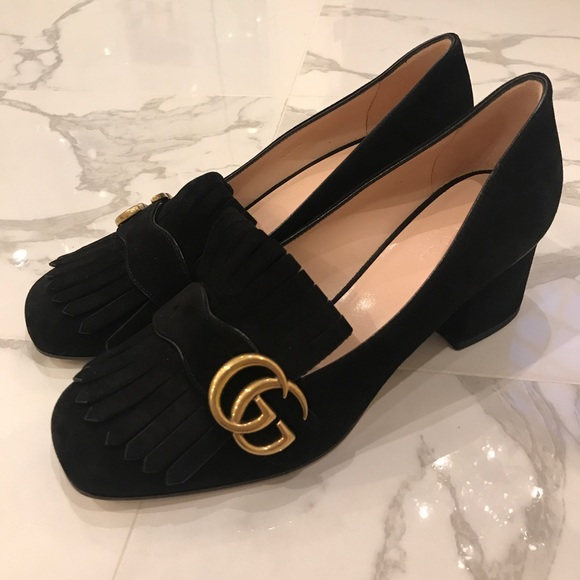 018a6b92b2e Gucci Suede Mid Heel Pump- Never Worn!
